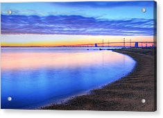 Water Colors Acrylic Print by JC Findley