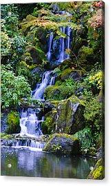 Water Fall Acrylic Print by Dennis Reagan