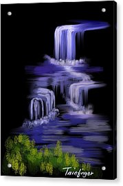 Water Falls Acrylic Print by Twinfinger