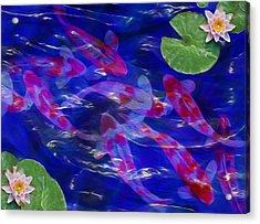 Water Garden Acrylic Print by Jack Zulli