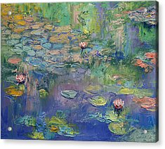 Water Garden Acrylic Print by Michael Creese