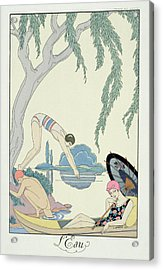 Water Acrylic Print by Georges Barbier