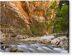 Water In The Narrows Acrylic Print by Bryan Keil