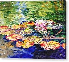 Water Lilies Acrylic Print by Irina Sztukowski