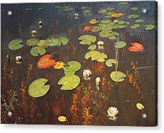 Water Lilies Acrylic Print by Isaak Ilyich Levitan