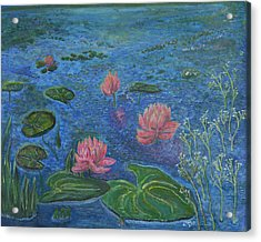 Water Lilies Lounge 2 Acrylic Print by Felicia Tica