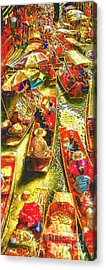 Water Market Acrylic Print by Mo T