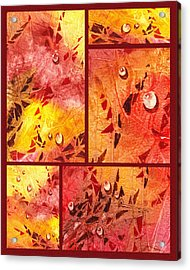 Water On Color Collage Eight Acrylic Print by Irina Sztukowski