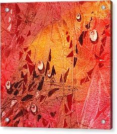 Water On Color Design Seven Acrylic Print by Irina Sztukowski