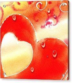 Water On Color Design Three Acrylic Print by Irina Sztukowski