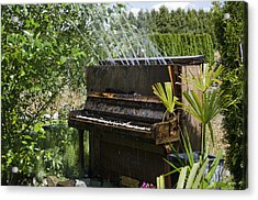 Water On My Piano Acrylic Print by Irene  Theriau