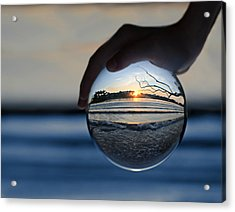 Water Planet Acrylic Print by Laura Fasulo