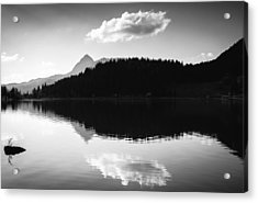Water Reflection Black And White Acrylic Print by Matthias Hauser