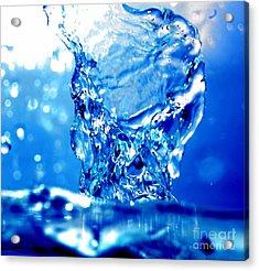 Water Refreshing Acrylic Print by Michal Bednarek