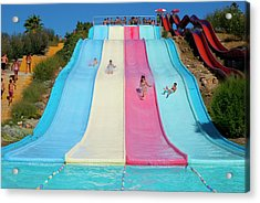 Water Slide Acrylic Print by Mark Williamson