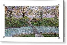 Water Under The Bridge Acrylic Print by Leo Gehrtz