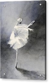 Watercolor Ballerina Painting Acrylic Print by Beverly Brown Prints