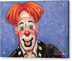 Watercolor Clown #7 Ryan Combs Acrylic Print by Patty Vicknair