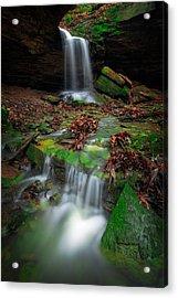 Frankfort Mineral Springs Waterfall  Acrylic Print by Emmanuel Panagiotakis