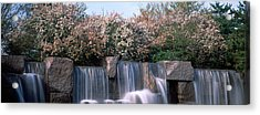 Waterfall, Franklin Delano Roosevelt Acrylic Print by Panoramic Images