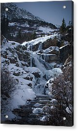 Waterfall Frozen In Time Acrylic Print by Michael Bauer