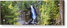 Waterfall In A Forest, Miners Falls Acrylic Print by Panoramic Images