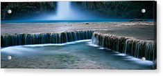 Waterfall In A Forest, Mooney Falls Acrylic Print by Panoramic Images