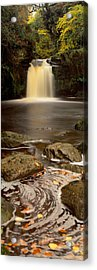 Waterfall In A Forest, Thomason Foss Acrylic Print by Panoramic Images