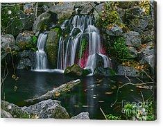 Waterfall In Boise Acrylic Print by Vishwanath Bhat