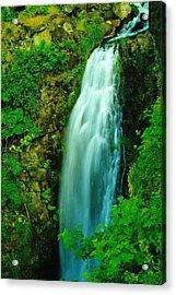 Waterfall In Hood River Oregon Acrylic Print by Jeff Swan