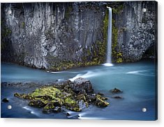 Waterfall Of The Elves Acrylic Print by Dominique Dubied