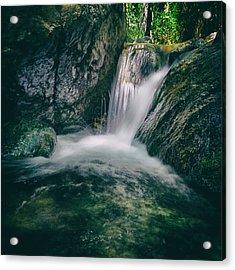 Waterfall Acrylic Print by Stelios Kleanthous