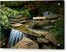 Waterfall Acrylic Print by Tom Mc Nemar