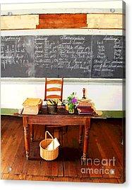 Waterford School Teacher's Desk Acrylic Print by Larry Oskin