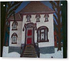 Historic 7th Street Home In Menominee Acrylic Print by Jonathon Hansen