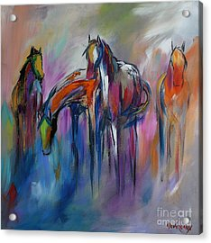 Watering Hole Acrylic Print by Cher Devereaux