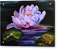 Waterlillie Acrylic Print by Janis  Tafoya