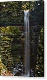 Watkins Glen Central Cascade Acrylic Print by Mark Papke