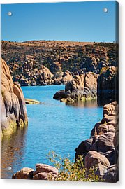 Watson Lake In The Fall Acrylic Print by Diane Wood