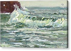 Wave Action Acrylic Print by Patricia Seitz