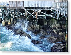 Wave Action Acrylic Print by Susan Wiedmann
