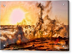 Wave Crasher La Jolla By Diana Sainz Acrylic Print by Diana Sainz