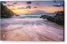 Wave Surge Acrylic Print by Hawaii  Fine Art Photography
