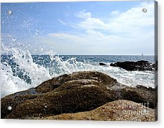 Waves Crashing Acrylic Print by Olivier Le Queinec
