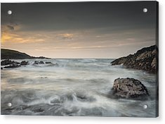 Waves In Motion Acrylic Print by Andy Astbury