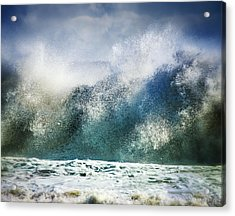Waves Of Fury Acrylic Print by Vicki Jauron