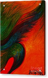 Waves Of The Wind Acrylic Print by Fanny Diaz