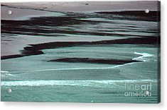 Waves On The Beach Acrylic Print by Methune Hively