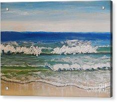 Waves Acrylic Print by Pamela  Meredith