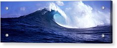 Waves Splashing In The Sea, Maui Acrylic Print by Panoramic Images